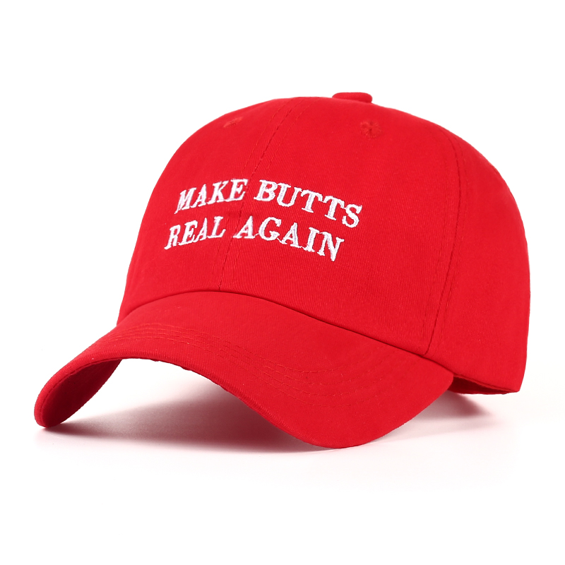 2017 new MAKE BUTTS REAL AGAIN dad hat men women Cotton baseball cap UNSTRUCTURED NEW - RED 2017 fashion papi unstructured baseball dad hat cap new men women cotton adjustable baseball cap black