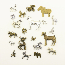 Charm Women Backless Dress Animal Horse Zebra Supplies For Jewelry Materials Hand Made Charms