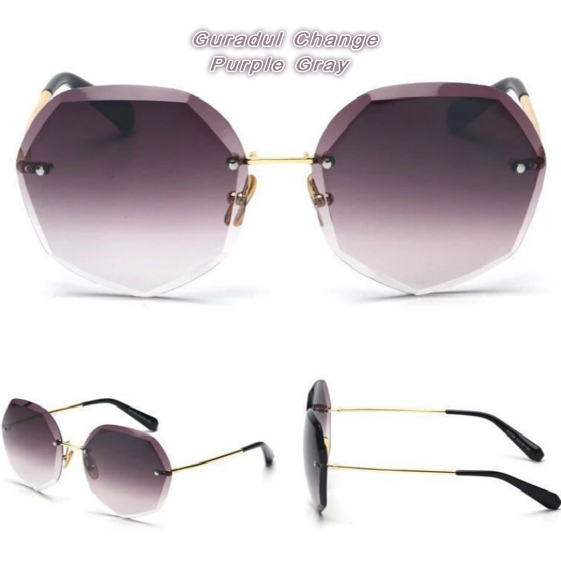 Sunglasses Women Luxury Cat eye Brand Design Mirror Flat Rose Gold Vintage Cateye Fashion sun glasses lady Eyewear