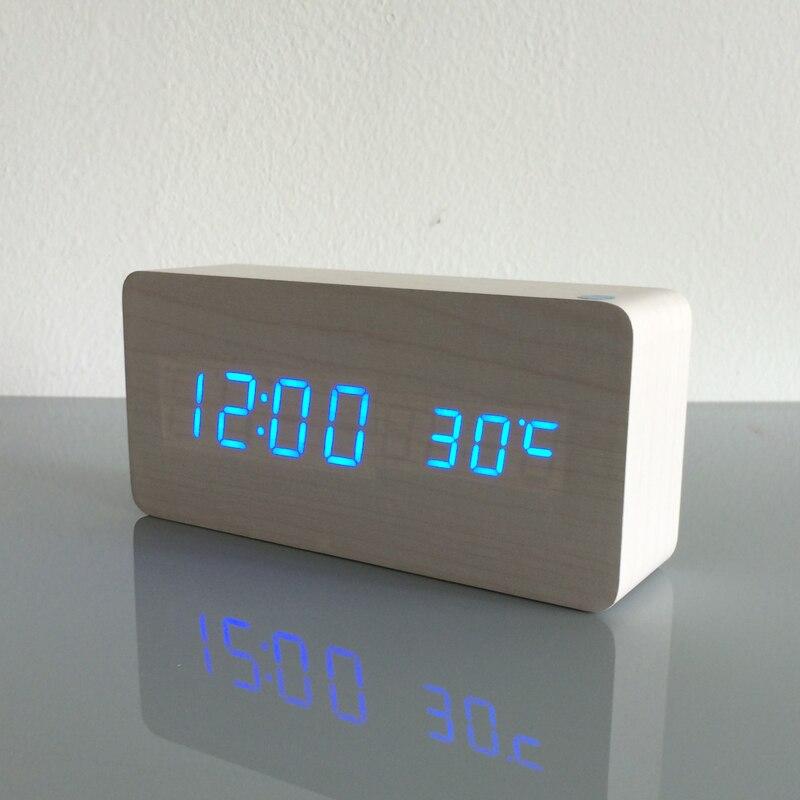 Image 3 - 2020 Best High end clocks,Thermometer Alarm clock LED Digital  Voice Table Clock,13 colors Digital Clock Battery/USB powertable  clockclock ledclock led digital