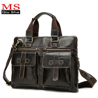 OGRAFF Genuine Leather Briefcases Men Bag Luxury Briefcases With Handles Skin Designer Famous Brands Leather Laptop