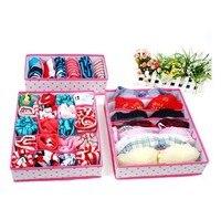 Nuttig home tool 3 Stks/set Opbergdoos Set Voor Houder Beha Ondergoed Stropdas Sokken Met 6/7/24 mobiele
