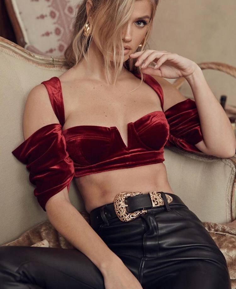 Free Shipping Top Quality Wine Off The Shoulder Slip Celebrity Short Top
