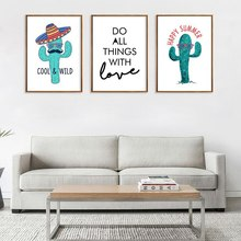 Cactus Pineapple Succulent Plants Leaves Wall Art Canvas Painting Nordic Posters And Prints Wall Pictures For Living Room Decor nordic poster succulent plants posters and prints cactus cuadros wall art canvas painting wall pictures for living room unframed