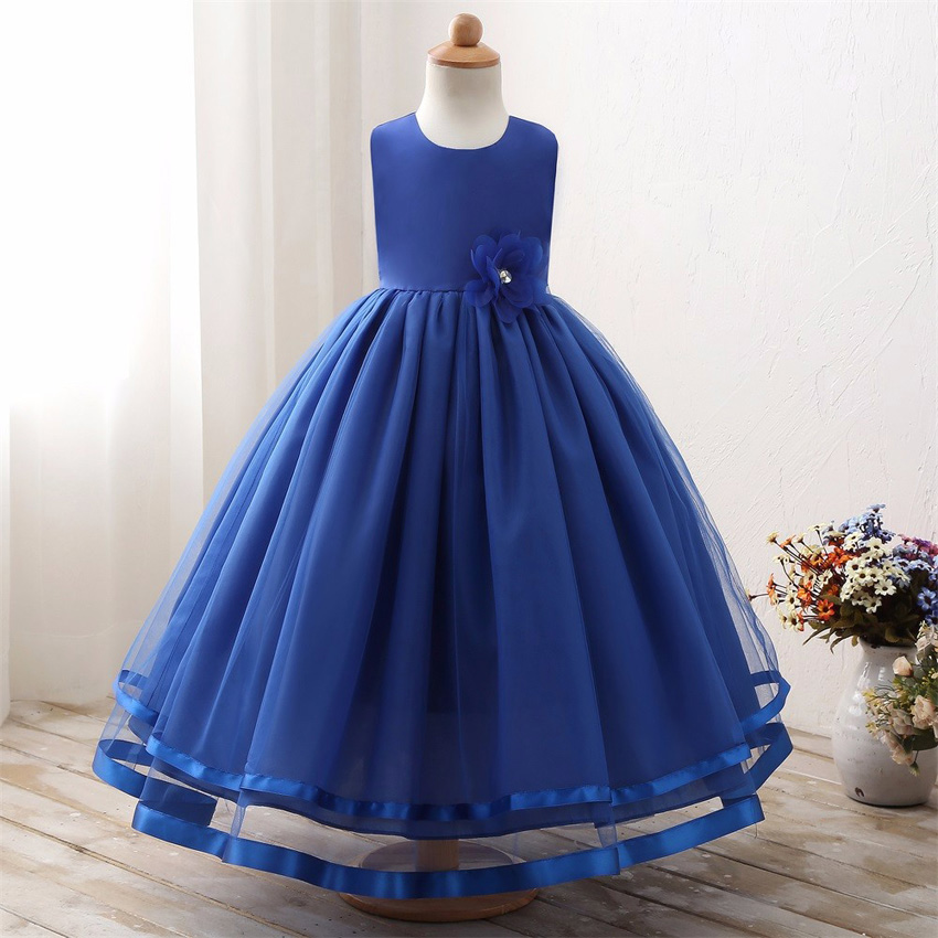 Maxi Summer Kids Wedding Dresses For Girls Designs Long Evening Party Bridesmaid Formal Robe Fille Little Children Clothing 18 19