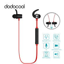 dodocool Magnetic Bluetooth Earphone V4.1 Headset Wireless Earbuds Stereo Sport Earphones with HD Mic CVC 6.0 Noise Cancellation(China)