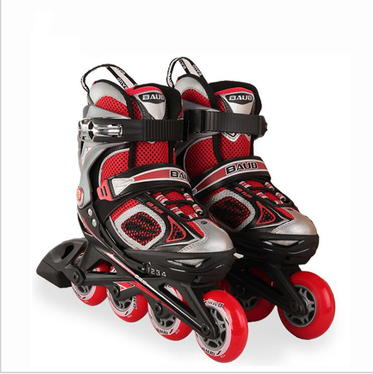 1 Pair Professional Children Or Adult High Quality Inline Skate Shoes Freestyle Skating Boots Outdoor Roller Skates Pink/Black