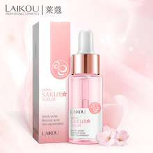 LAIKOU Sakura Face Serum Japan Skin Care Shrink Pores Remove Acne Liquid Moistur