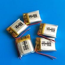 Pièces de 5 batteries Lipo 3.7V, 300mAh, lithium polymère, rechargeables, puissance 802025, pour appareil photo, MP3, DVD, montres intelligentes
