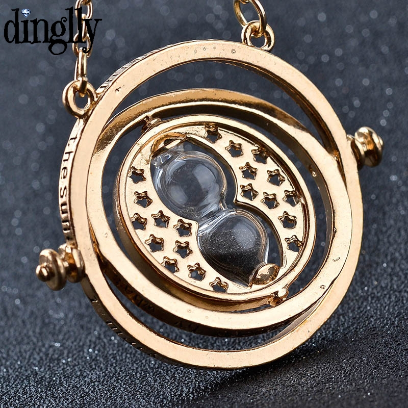 DINGLLY Collar Harri Pot Time Turner Pendant Charm Necklace For Women Lady Creative Sweater Chain Brand Necklaces Gift