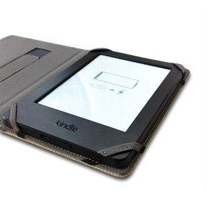 Image 3 - Étui en lin naturel pour Kindle Touch 4, 5, 6, 7, 8, avec support pour les mains