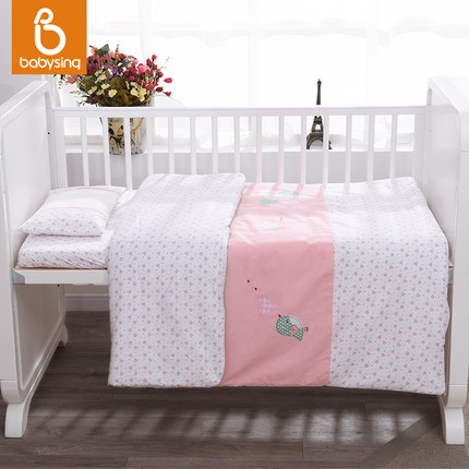 5pcs babysing baby bedding set ,100% combed cotton  ,infant nursery set,baby bedding set bumper baby bedding set 5 pcs 100