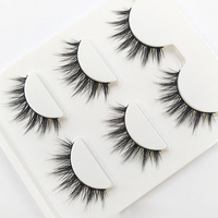 3D-09 Natural Tapered Black Terrier   False     Eyelashes   Fashion Ball Smoke Makeup Fake   Eyelashes   Cross Messy Soft 3D Eye Lashes
