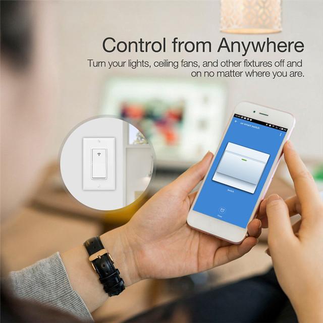 WiFi Smart Wall Light Switch Smart Life/Tuya APP Remote Control Works with Amazon Alexa Echo Google Home IFTTT
