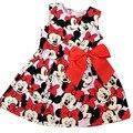 Nova roupa das crianças Minnie Mouse crianças dot vestido tutu princess dress crianças soltas-encaixe do bebê vestido da menina