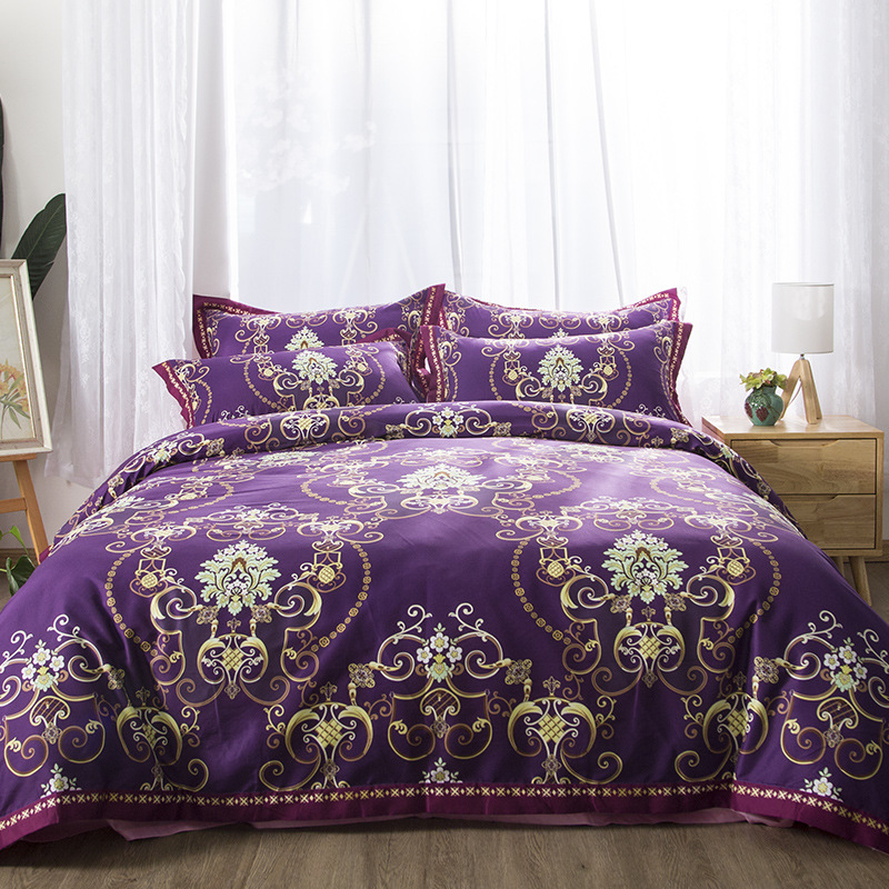 100% cotton luxury European court bedding set duvet cover bedclothes comforter bedding sets Vintage luxury bed linen Pillowcases