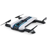 JJRC H61 RC Helicopters Follower Foldable 720P Camera Beauty Waypoints Mode WiFi FPV Drone Colorful LED Lights Cool Flying Toys