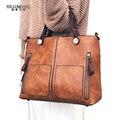 WILIAMGANU Fashion Wax Oil Leather Bag Designer PU Leather Bags Women Handbag Brand High Quality Ladies Shoulder Bags