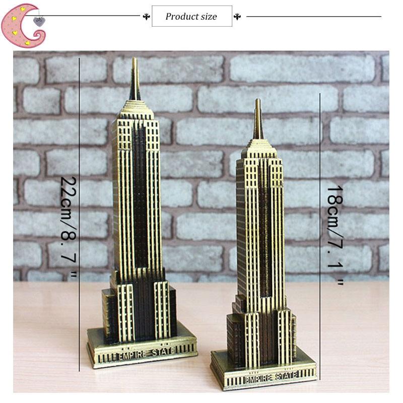 Empire State Building U.S. Landmark Skyscraper Modeling Decor Figurines Creative Modern Metal Craft Tourist Souvenirs Home Decor