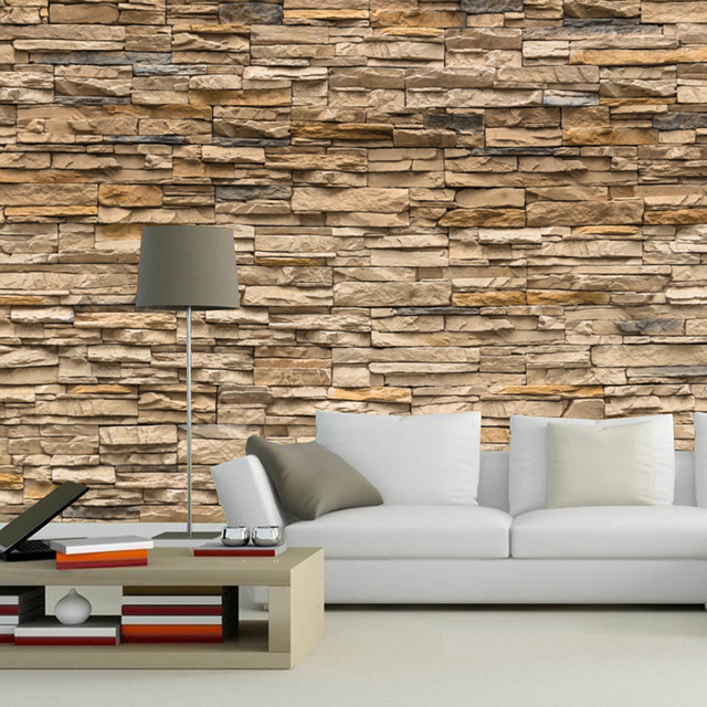 Elegant Custom Size 3d Wallpaper Mural Brick Vintage For Walls Living Room Bedroom  3d Wall Mural Wallpaper Part 30