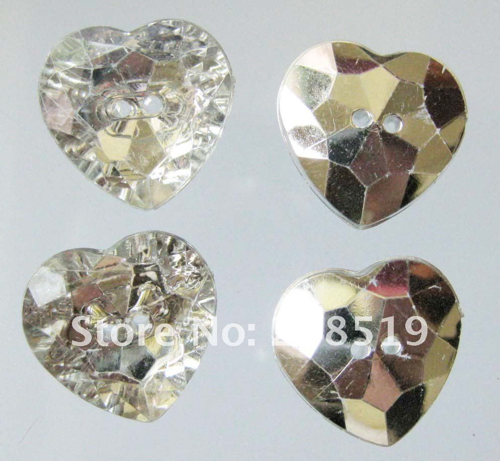 NB0025 акриловые сердца Кнопки 20 мм 50 шт./лот с модными пуговицами девичьи для Одежда Аксессуары