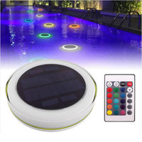 RGB LED Under water Light Solar Power Pond Swimming Pool Floating Waterproof LED Outdoor Light With Remote Control