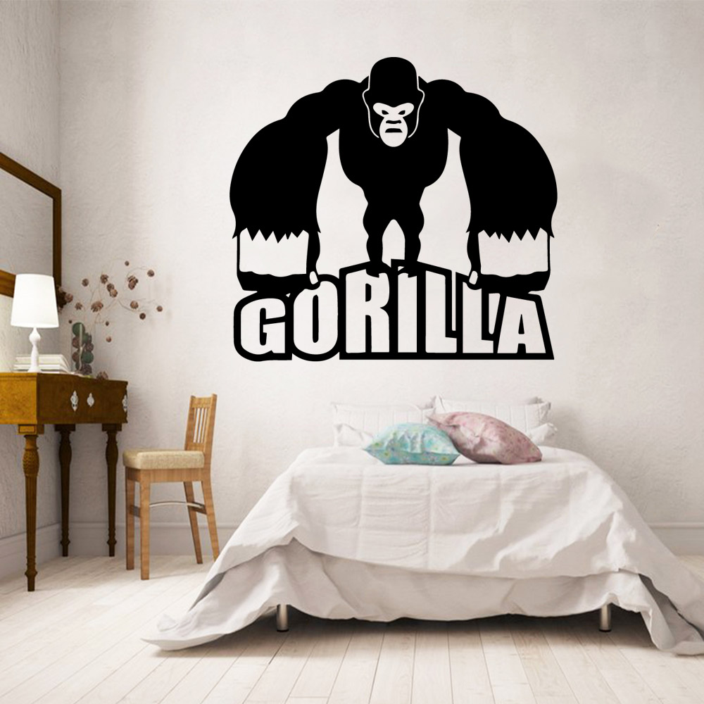 PersonlizedGorilla Monkey Wall Stickers Modern Fashion Wall Sticker For Kids Rooms Diy Home Decoration Background Wall Art Decal