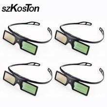 e235ee5b6 4 pçs/lote DLP Link Óculos 3D Do Obturador Ativo para Sharp LG Acer BenQ
