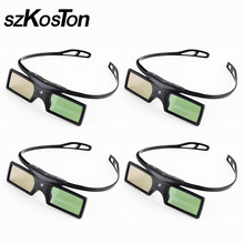 4pcs/lot DLP Link 3D Glasses Active Shutter for Optoma Sharp LG Acer BenQ Acer Dell Vivitek DLP-LINK DLP Link Projectors