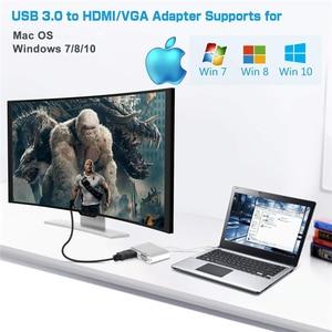Image 3 - 2020 USB 3.0 إلى HDMI مهايئ VGA ماك OS USB إلى VGA HDMI محول 1080P محول دعم HDMI VGA مزامنة الإخراج ل Windows7/8/10