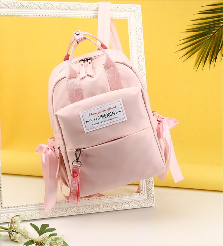 rosado Coreana Mujer Nueva La Tela Casual 2019 Moda Dulce De