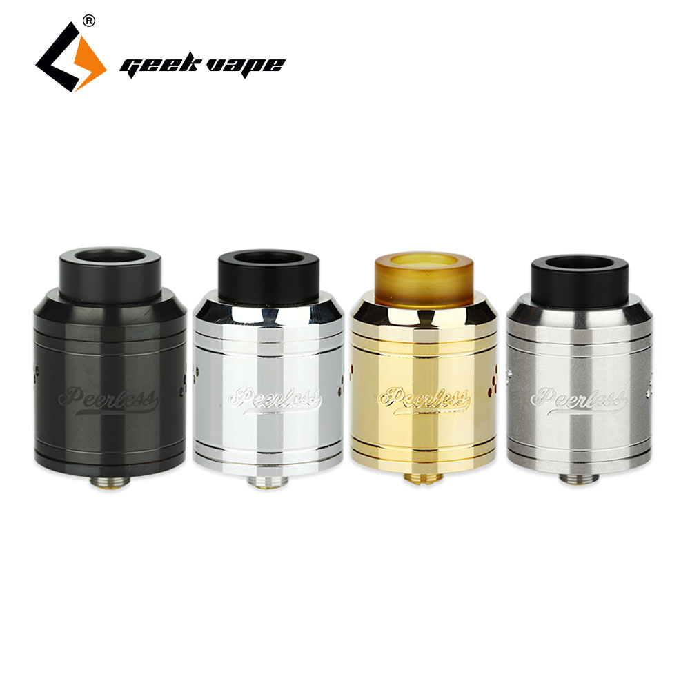 Original GeekVape Peerless RDA Tank 24mm Dual/Single Coil 304 Stainless Steel Special Bridge Design Post Peerless RDA Atomizer