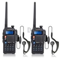 2pcs BAOFENG UV 5X Walkie Talkie Upgraded Version of Baofeng UV 5R UHF+VHF Two Way Radio FM Function w/ Original Main Board