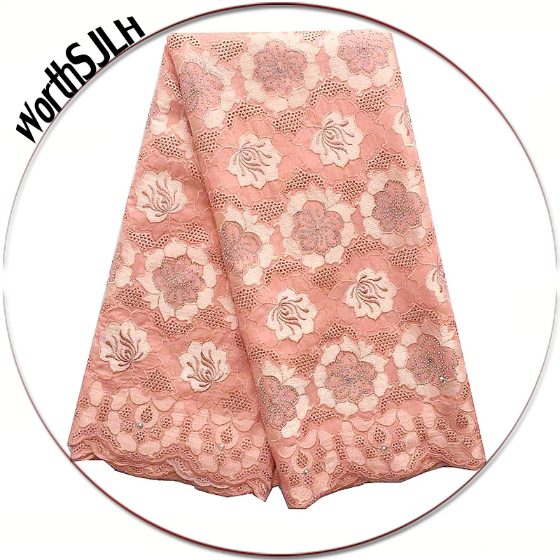 Latest Cotton African Voile Lace Fabric 2018 High Quality Swiss African Lace Fabric Magenta Gold Purple Peach Lace FabricLatest Cotton African Voile Lace Fabric 2018 High Quality Swiss African Lace Fabric Magenta Gold Purple Peach Lace Fabric