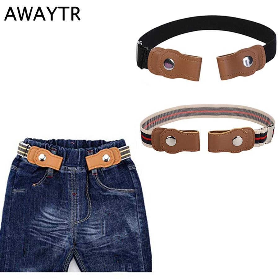 AWAYTR No Buckle Easy Elastic Free Adjustable Kids'   Belt   No Buckle Kids Elastic Free   Belts   for Toddlers Stretch   Belts   Boys Girls