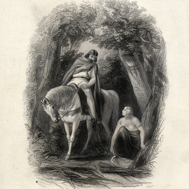 King Cormac And The Fair Eithne Drawn By HWarren Engraved ByjRogers From The History Of Ireland By TWright C1855 28 x 30