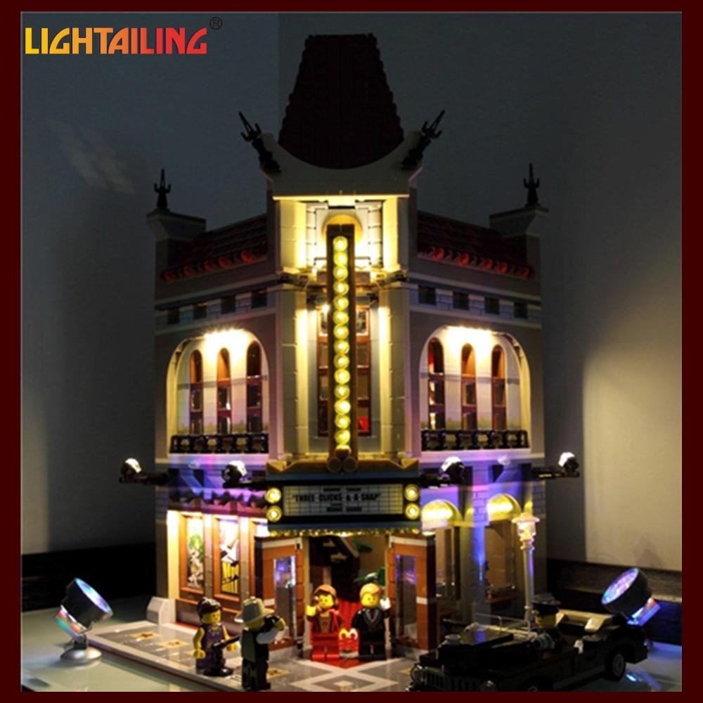 LIGHTAILING Only Led Light Up Kit DIY Toy for Creator City Street Palace Model DIY 15006 Compatible with Lego 10232 bwl 01 tyrannosaurus dinosaur skeleton model excavation archaeology toy kit white