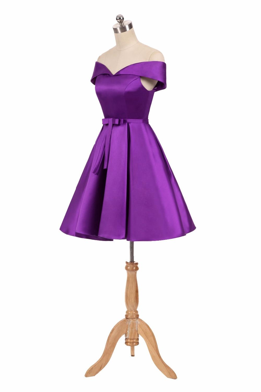 Día de pescado vestido de coctel púrpura del azul real del satén ...