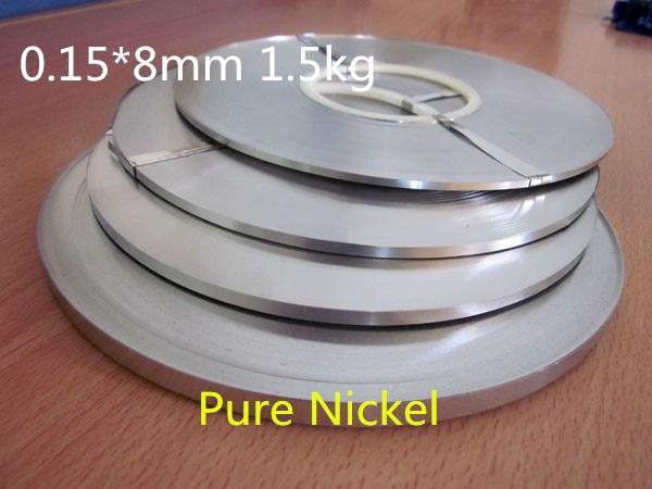 高品質! 純粋な nichel 99.96% バッテリー純ニッケルストリップ携帯コネクタバッテリー純ニッケルプレート 0.15*8 ミリメートル 1.5 キログラム  グループ上の ツール からの スポット溶接機 の中 1
