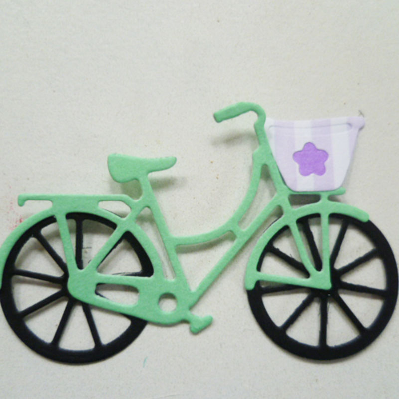 METAL CUTTING DIES Bike Bicycle Drive DIY Collage Scrapbook Card Album Paper Craft Home Embossing Stencils Punch Shape Dies