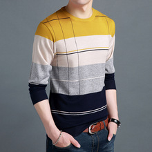 2017 New Men Sweater Round Collar Thin Section Pullover High-Quality Fabric Loose Comfortable Men's Fashion Sweater MK632