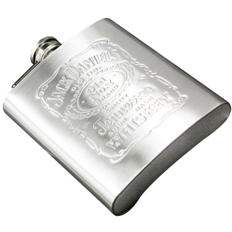 EZLIFE Cheap Stainless Steel Wine Hip Flask 7oz Travel Alcohol Whisky Pocket Hip Flask Silver Color Whisky Alcohol Bottles MS351