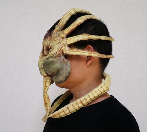1pcs 80cm Facehugger Cosplay Latex Mask Alien Predator Scale