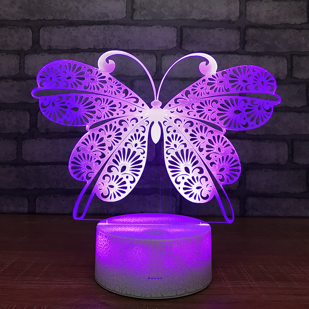 Us 12 67 35 Off Erflies Small Night Lights New And Unique Led Colorful Bedside Energy Saving Usb Light Fixtures In