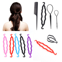 Hair Twist Styling Clip Stick Bun Donut Maker Braid Tool Set Hair Jewelry 5 Colors Available