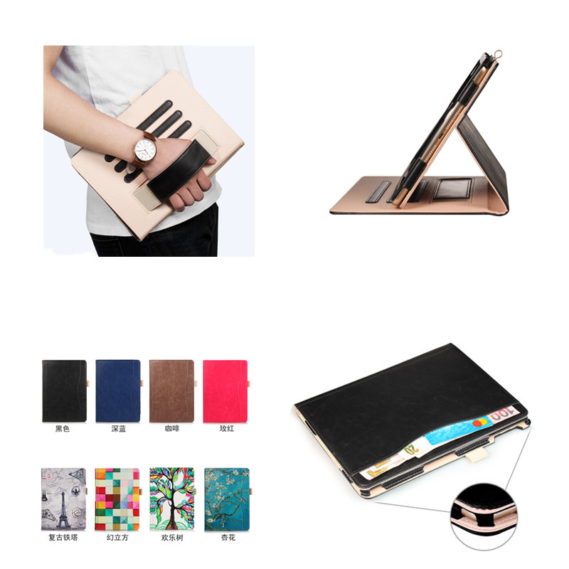 PU Leather Case Smart Cover Stand with Hand Strap for ipad Air 1 2 9.7 2017 Case For New iPad 9.7 inch 2018 A1954 A1893 Tablet
