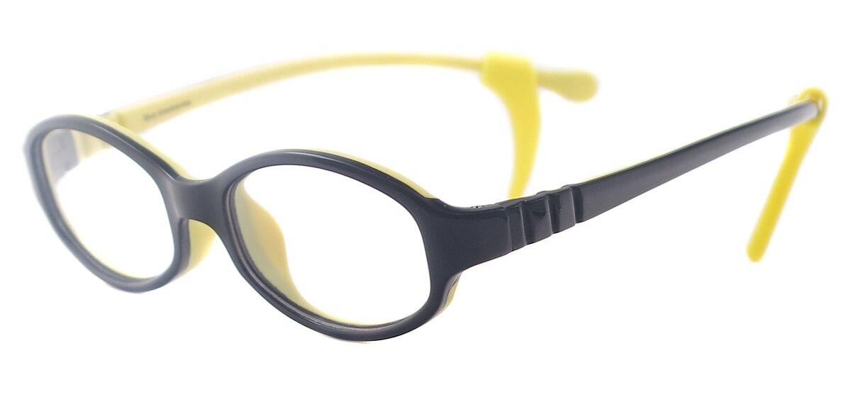Kinder Bunte Oval Gummi Brille Mädchen Jungen Weiche Leichte Brillen ...