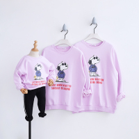 HT2201 Spring Autumn Cartoon Sweatshirt Clothes Mother Daughter Father son Costume Kids Baby Outwear Family Matching Outfits