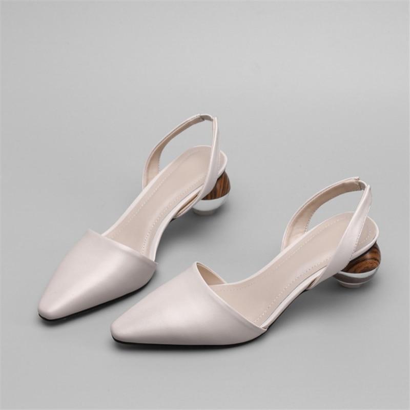 Cristallo Xinbest Tacchi 2019 Estate Ufficio Strano bianco Stile Di Donne Apricot Dei Fascia il Nero Tallone Elastica Sandali Genuino Delle Cuoio Scarpe Alti Arq6rWEnS