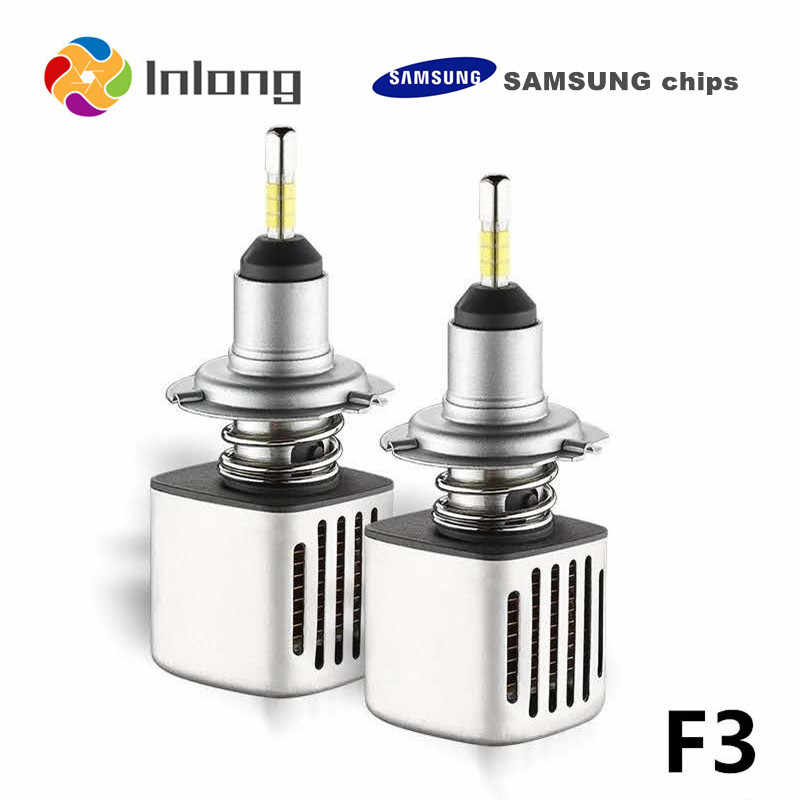 Inlong With 4 Sides SAMSUNG Mini H7 LED H4 11200LM D4S H1 H8 H11 9005 D3S 9006 HB4 D1S Car Headlight Bulbs 6500K  Fog Lights 12V